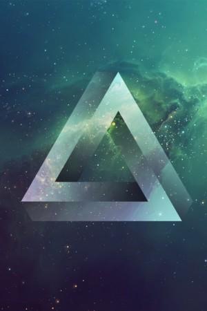 kosmiczny trójkąt - tapeta