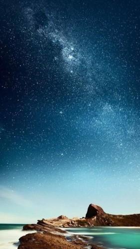 tapeta na telefon - gwieździste niebo